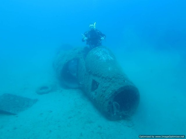 harrier jet wreck
